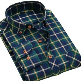 Camisa De Flanela Masculina Xadrez Lenhador