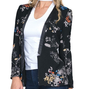 Saco/chaqueta Negra Ligera Super Fashion Para Mujer
