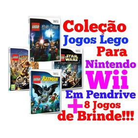 Coleção Jogos Lego Para Nintendo Wii + 8 Jogos Em Pendrive