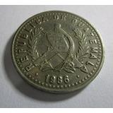 Antigua Moneda 1986 Republica De Guatemala 25 Centavos