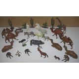 Gran Lote Animales Selva Plomo Hueco Eg Toys