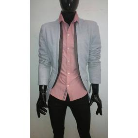 Camisa Hombre Rosa Casual Slim Fit