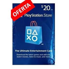 Tarjeta Gift Card Playstation 20 Dolares Usd Mexico Ps3 Ps4