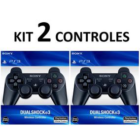 Kit 2 Controles Original Playstation 3 S/ Fio Controle Ps3