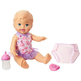 Boneca Little Mommy Bebê Faz Xixi Loira Mattel
