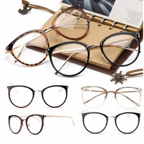 Armação Óculos De Grau - Gatinho Metal Luxo A Pronta Entrega