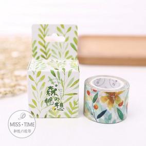 Washi Tape Cinta Decorativa Scrapbook Flores Cute Kawaii