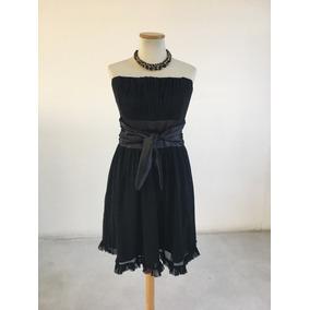 Vestido Noche Corto Negro Mujer Diagrama Strapless