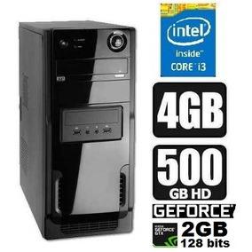 Cpu Intel Core I3 4gb Hd500 Dvd-rw Wi Placa Video 2gb Gforce