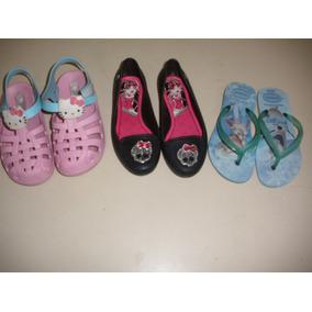 Lote De Sapatos Infantis Menina Nº 25