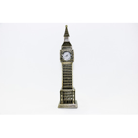 Miniatura Relógio Big Ben Londres Metal 23 Cm