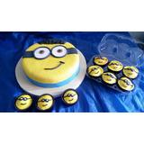 Torta Artesanal Minions +12 Muffins