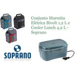 Marmita Elétrica Bivolt 1,2 L + Cooler Lunch 4,2 L - Soprano