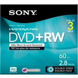 Sony 3dpw60dsr2hc 3-pack 8cm Dvd Rw Doble Cara Con Hangtab
