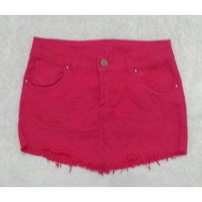 Mini Saia Cotom Jeans Desfiada Tamanho 38 C/ Laycra