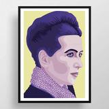Poster Simone De Beauvoir    Cuadro Alta Calidad 45 X 33 Cm