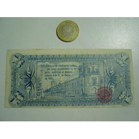Billete Estado Libre Soberano De México Un Peso 1915
