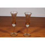 Copas De Licor En Cristal Fino (precio Por Las 2) Usado