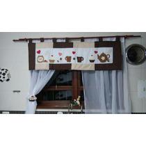 Cortina Cozinha Em Pathwork Com Prendedor!!!!