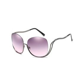 Gafas De Sol Grandes De Medio Marco Con Patas Curvas