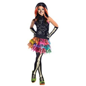 Disfraz Niño Monster High Skelita Calaveras De Vestuario, M