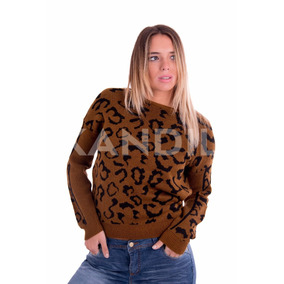 2 X1!! Sweater Mujer Animal Print Entallado. Kandil