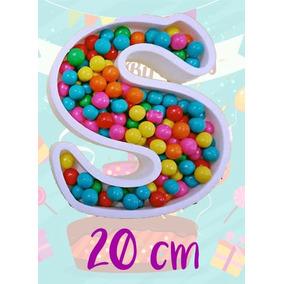 Letras Huecas Polifan 20 Cm Candy Bar
