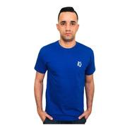 Camiseta Basic Lobo Azul Royal C013