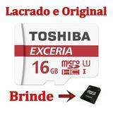 Cartão Micro Sd Sdhc Toshiba Exceria 16gb 600x 90mb/s Uhs-l