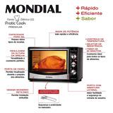Forno Elétrico Mondial 32 Litros Pratic Cook Fr-10