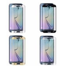 10 Micas Vidrio Templado Galaxy S6 Edge Curvo Pantalla Compl