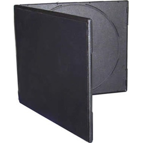 Estuches Doble P/ Cd/dvd. Cajas Plásticas Negro 7mm Slimx50