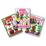 Lote De 3 Revistas - Flores Com Garrafas Pet - Artesanato