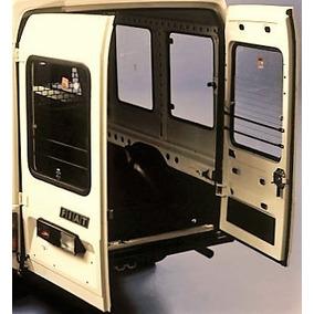 2 Porta Traseira Fiat Fiorino Furgão 83 87 C/ Vidro Original