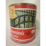 Pintura Domino Esmalte Brillante Marca Vp 1/4 Galon