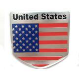 Emblema Bandera Usa Mustang Camaro Challenger Srt Demon Hell