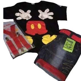 Conjunto Infantil Fantasia Mickey Mouse Disney Personagens