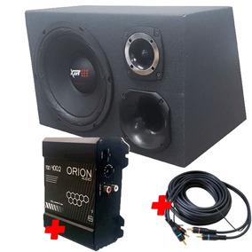 Caixa Trio Sub 12 250 Rms + Módulo Tsd 400.2 400 Rms