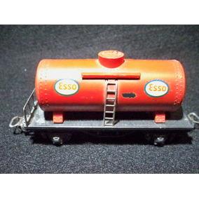 Vagon Antiguo Nacional Cisterna Esso - H0 - Ferromodelismo