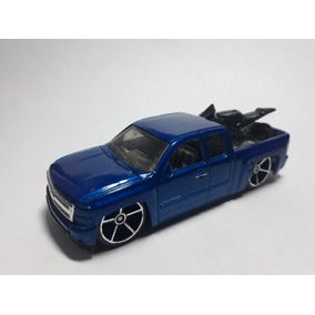 Chevy Silverado Azul Pic Kup Hot Wheels 2007 M C002