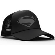 Gorra Trucker Superman Gris Kal-el  Comics Dos Caras