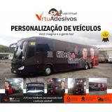 Adesivo Envelopamento Ônibus De Bandas E Frotas De Empresas