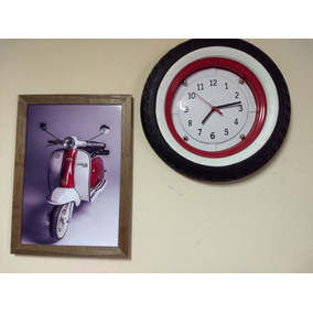 Relógio De Parede Roda Lambretta.