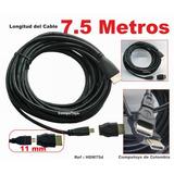 Computoys Cable Delgado Para Pasar Ductos Hdmi 7.5m Zhdm75d
