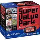 Playstation Vita Super Value Pack Modelo Wi-fi Rojo / Negro