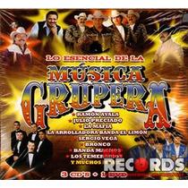 3cd+1dvd Lo Esencial De La Música Grupera, Sony 2011, Nuevo!