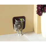 Puerta Para Gato Access 4 Way Classic Color Café