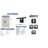 Aire Portatil Hyundai 12.000 Btu A 115v + Barra De Sonido
