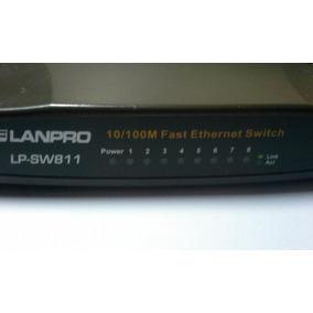 Switch 8 Puertos 10/100 Lanpro Modelo Lp-sw811