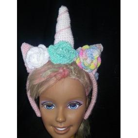 Diadema Unicornio Tejida A Crochet